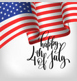 happy 4th of july usa independence day banner with vector image