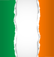 Irish flag background vector image