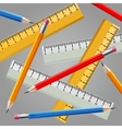 Ruler and pencil set vector image
