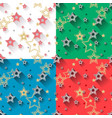star seamless patterns set vector image
