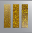 Vertical set Gold sequins banners Glitter vector image
