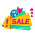 Special offer sale tag discount symbol mega sale vector image