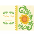 Vintage traditional Invitation card vector image