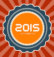 2015 Happy New Year Retro vector image