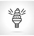 Spiral saving bulb black line icon vector image