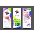 a set of vertical banners with abstract full color vector image