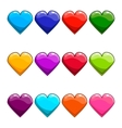Big set with cartoon heart vector image