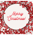 christmas wreath with berries vector image