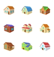 Dwelling icons set cartoon style vector image