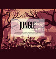 morning tropical jungle background vector image