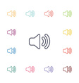 sound flat icons set vector image