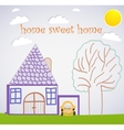 sweet home card vector image