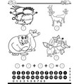maths worksheet for coloring vector image vector image