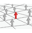 connection and networking vector image