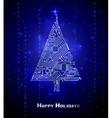 Hi-tech Christmas tree vector image vector image