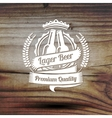Old styled label for your beer business shop vector image