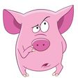 cute cartoon pink pig vector image