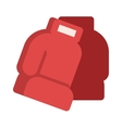 Pair of red leather boxing gloves isolated on vector image