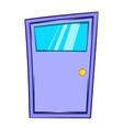 Violet door icon cartoon style vector image vector image