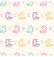 Seamless Pattern with Unicorns Fantasy Fairytale vector image