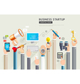 Set of business hands services vector image