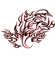 abstract tattoo flames vector image