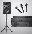 Amplifier Microphone Speaker DVD-player vector image