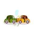 car accident head on collision fender bender vector image