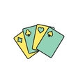 game cards icon Eps10 vector image