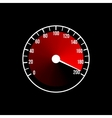 Red speedometer design on a black vector image