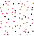 Seamless ink brush painted polka dot pattern vector image