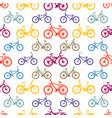 seamless pattern mountain bike vector image