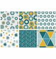 Six seamless patterns vector image