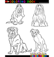Cartoon purebred Dogs Coloring Page vector image