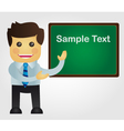 Business man with blackboard vector image vector image