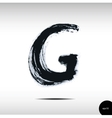 Calligraphic watercolor letter G vector image