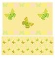 Light green butterflies seamless pattern vector image vector image