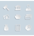 Business Paper Icons Set vector image vector image