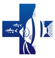 aquarium fish health care symbol vector image