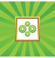 Cogs picture icon vector image