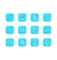Collection Icons of Modern Computer Web Buttons vector image