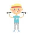 Fitness kid girl vector image
