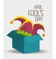 fools day design vector image