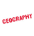 geography rubber stamp vector image