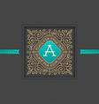 Monogram logo template design vector image