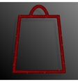 Red Sequins Shopping Bag Glitter Sale offer vector image