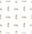 seamless pattern bike trailer vector image