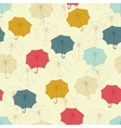 Seamless pattern with cute umbrellas vector image