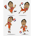 soccer players collection design vector image