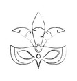 women carnival mask vector image